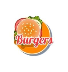Burger Sticker vector image vector image