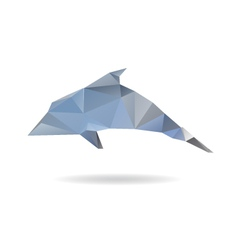 Dolphin abstract isolated on a white backgrounds vector image