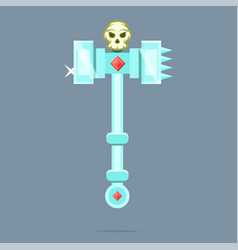 Fantasy weapon battle hammer war hammer vector