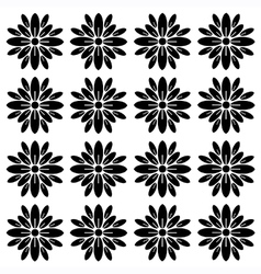 Flower block print pattern vector