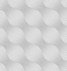 Gray ornament diagonal bulging waves vector
