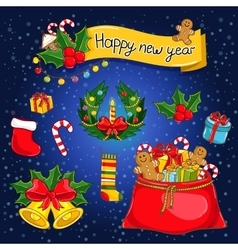 Happy New Year collection vector image