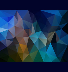 irregular polygon background dark blue vector image vector image