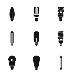 Lamp for home icons set simple style vector image