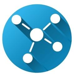 Links gradient round icon vector