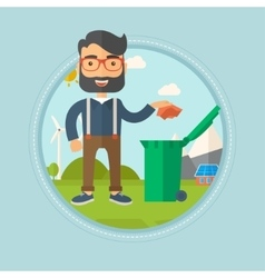Man throwing away trash vector