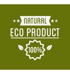 Organic product guaranteed label or badge vector