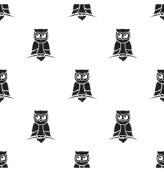 Owl icon in black style isolated on white vector