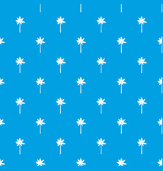 Palm woody plant pattern seamless blue vector