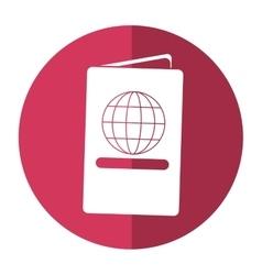 Passport identication document travel shadow vector