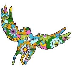 Pegasus colorful for children vector