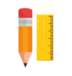 Pencil school with rule vector