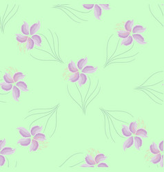 Seamless texture pattern purple flowers vector