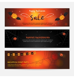 Set of happy Halloween banner background vector image