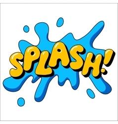 Splash sound effect vector image