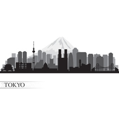 Tokyo city skyline detailed silhouette vector