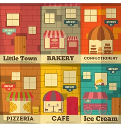 town posters vector image vector image