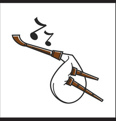 white colored bagpipe vector image vector image