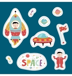 Variety Forms Price Tags with Space Cartoons vector image