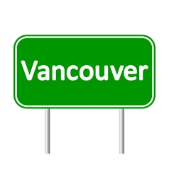 Vancouver road sign vector