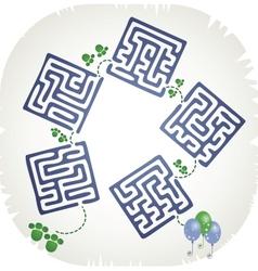 Step maze vector image