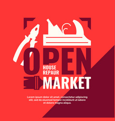 House repair open market vintage poster vector