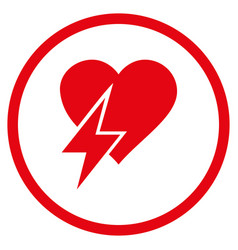 heart shock rounded icon vector image