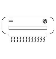 Air conditioner the black color icon vector