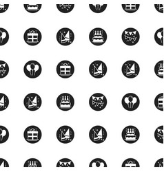 Party celebration seamless pattern birthday vector