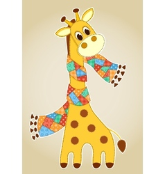 Giraffein in a scarf aplication vector