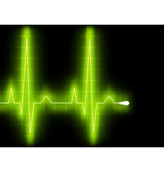 heart beat graph  vector image