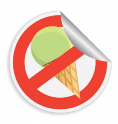 No ice-cream sign vector