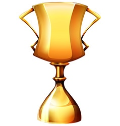 Golden trophy on white vector
