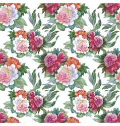 Watercolor seamless pattern with roses background vector