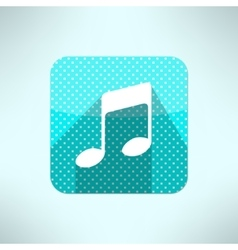 Music note icon in modern flat design on a vector