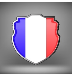 French shield isolated vector