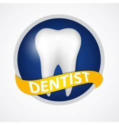 Dental clinic icon vector