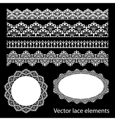 Seamless lace set vector image
