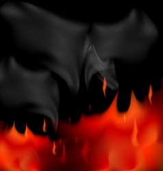 Fire smoke vector image