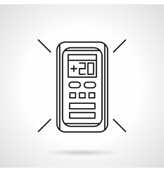 Conditioner remote controller line icon vector
