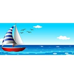 A ship in the ocean vector image