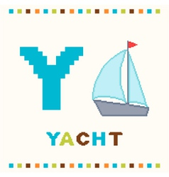 alphabet for children letter y and a yacht vector image vector image