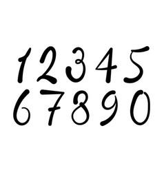 arabic numerals set 1-10 vector image vector image