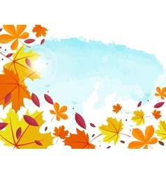 Autumn background Frame for text decorated with vector image vector image