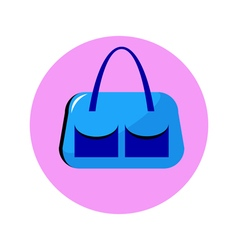 Bag blue in circle vector