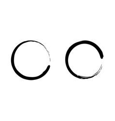 Black zen circle vertor art set vector