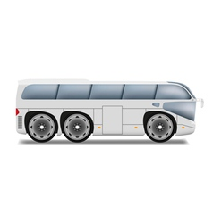 Cartoon bus with big wheels vector image vector image