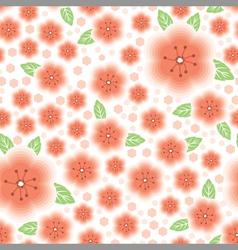 flower pink pattern vector image