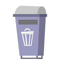 garbage bin cartoon vector image
