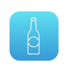 Glass bottle line icon vector image